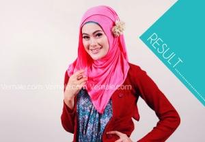 Cara Memakai Jilbab Persegi Pashmina7
